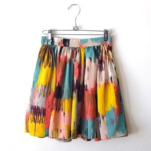 Forever 21 Boutique gorgeous colorful flirty skirt